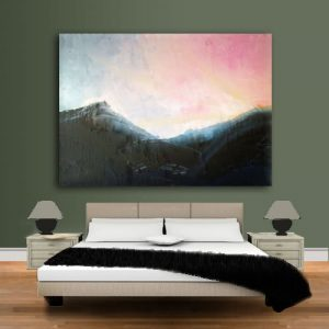 Blue Ridge Sunrise on Sage Green