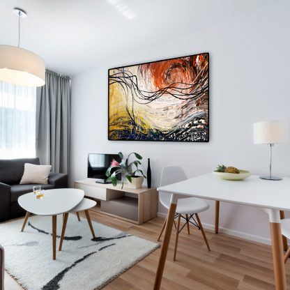 Casual Swirl in a studio apartment