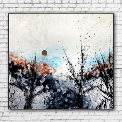Forest Overture on white brick