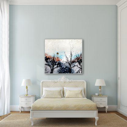 Forest Overture on light blue
