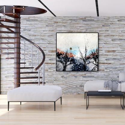 Forest Overture on gray brick