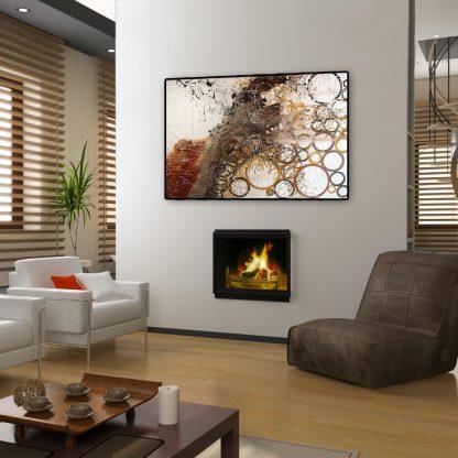 Rapids in a modern living room.